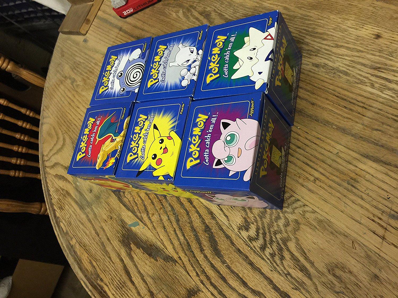"BLUE Pokemon ""23k Gold Plated"" Burger King Cards Set of 6"