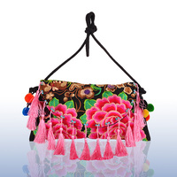 New lady products 2016 wooden beads bag vietnam handmade embroidery bags