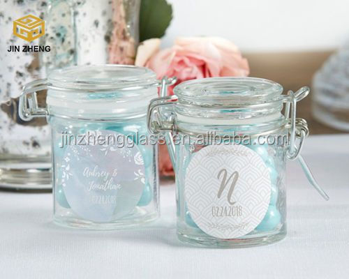 Nostalgic Clamp Lid Glass Mason Jar with Swing Top Lid