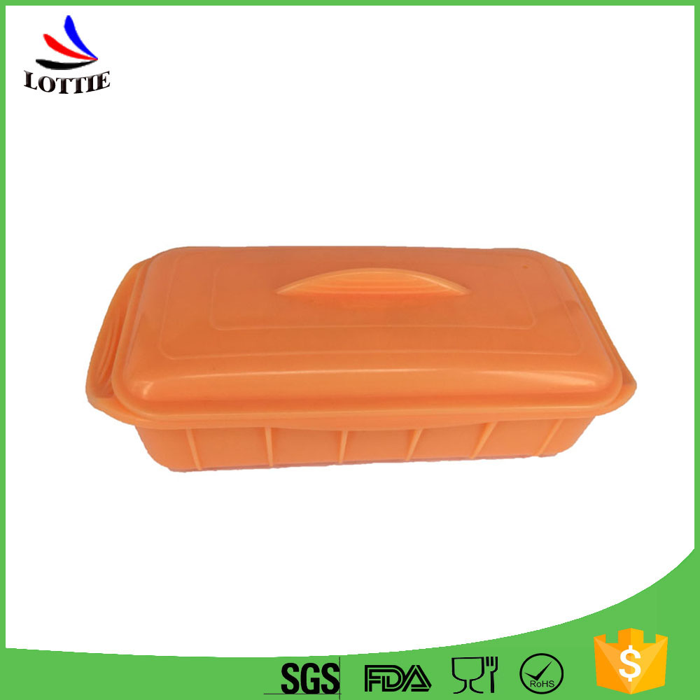 Hot Sale Eco Friendly Silicone Double Collapsible Lunch Box Bento Food Container