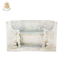 Carved White table for sale marble bench stone furniture NTMTA-0003