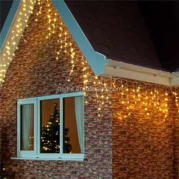 110v 7colors Outdoor Christmas Icicle Lights Customized Size Warm White Led Icicle Lights With White Rubber Wire Buy Outdoor Christmas Icicle