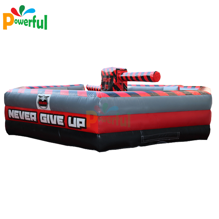 Outdoor wipeout sweeper meltdown game inflatable wipeout for sale
