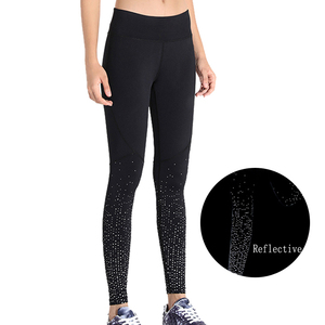 Tights Active Yoga Pants Fitness Running Leggings OEM Service Womens Sportswear For Reflective Safety Out Door Running