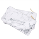 Hot popular lady makeup brush bag zipper marble cosmetic bag