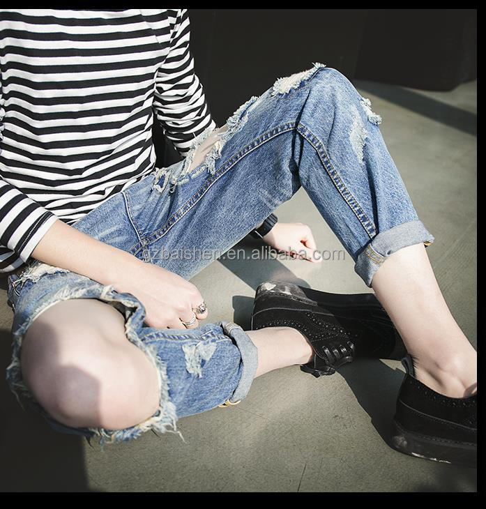 New Products Distributor Skinny Cheap Pant Ripped Light Fading Destoryed Denim Jeans for Men
