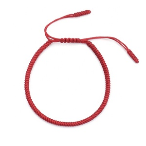 Factory Custom Color Handmade Lucky Red String Thread Bracelets For Women