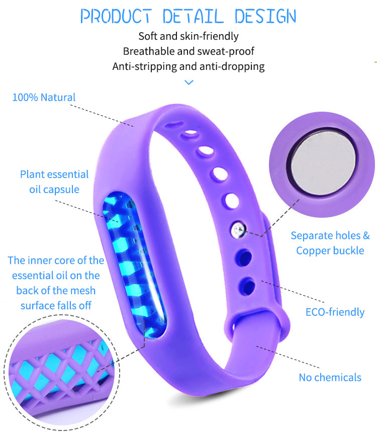 Fully stocked Effective 100% Natural Silicone Mosquito Repellent Watch