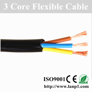 new RVV flexible stranded copper electrical cable wire