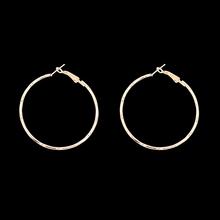 07592e1d2cf5 Nueva Moda Gran Círculo Pendientes de Plata Elegante chapado en Oro  Pendientes de Aro Plateado Brincos