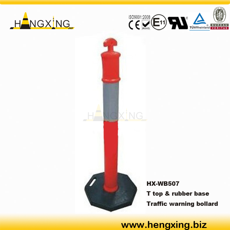 WB507 safety sign recycle plastic bollards