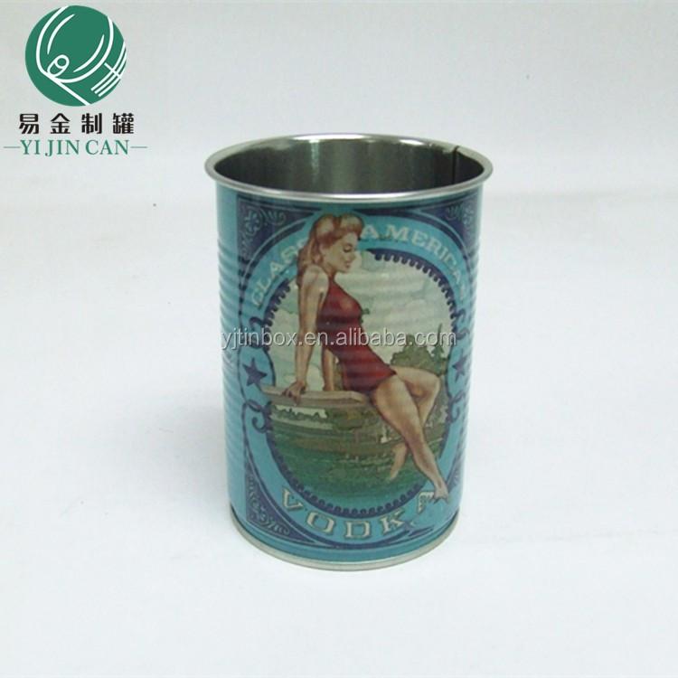 Wholesale Customized Top Grade Drinking Cup Tin Can Yogurt