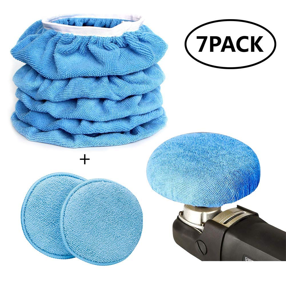 Get quotations · bstore car polisher pad kit car care microfiber applicator pads 7 to 8 inches
