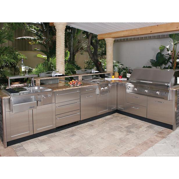 2018 Hangzhou Vermont Modular Stainless Steel Outdoor Kitchen With Bbq  Island - Buy Modular Outdoor Kitchens,Stainless Steel Outdoor Kitchen,Bbq  ...