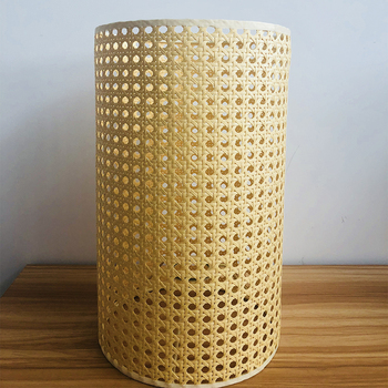 High quality hotel manufacture handmade bamboo Cylindrical shade rustic led rattan lamp light shade made of paper