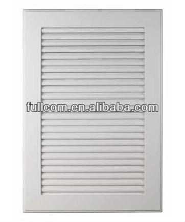 Interior del armario de cocina ciegos, la puerta de la persiana ...