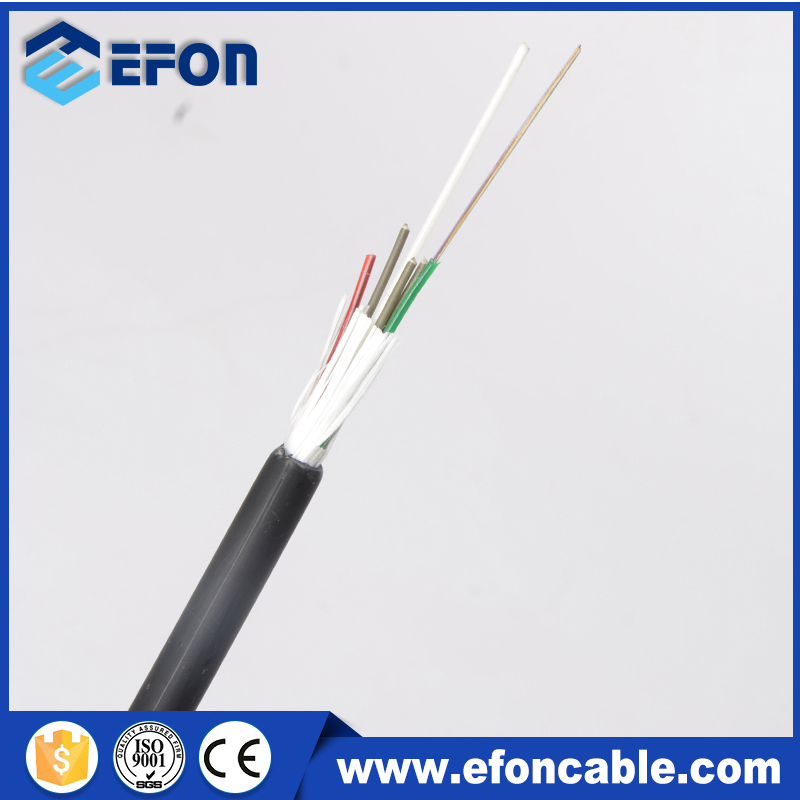 48 96 core corning fiber g652d no metal no armor glass yarn aerial self support fiber optical cable