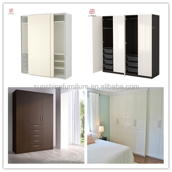 Made In China Modern Wooden Home Furniture Bedroom Almirah Designs