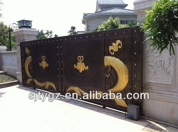 Wrought iron sliding main gate design buy wrought iron - Sliding main gate design for home ...