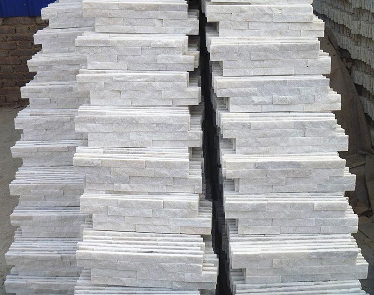 piedra natural de color blanco cuarzo piedra azulejos para paredes interiores