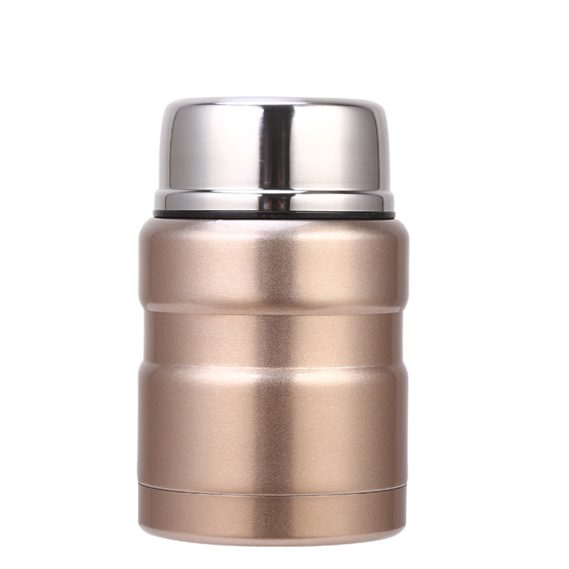 500ml Wide Mouth Big Capacity food flask stainless steel thermos food flask jar with spoon