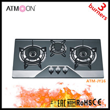 3 Burner Tempered Glass Table Tops Gas Stove/gas hob