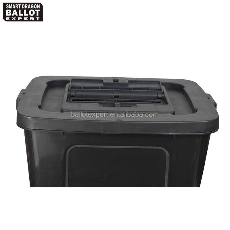 Plastic lockable black voting ballot drop box