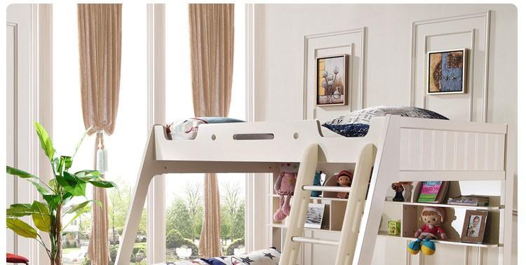 hot sale cheap bedroom furniture kids modern wood bunk beds for sale