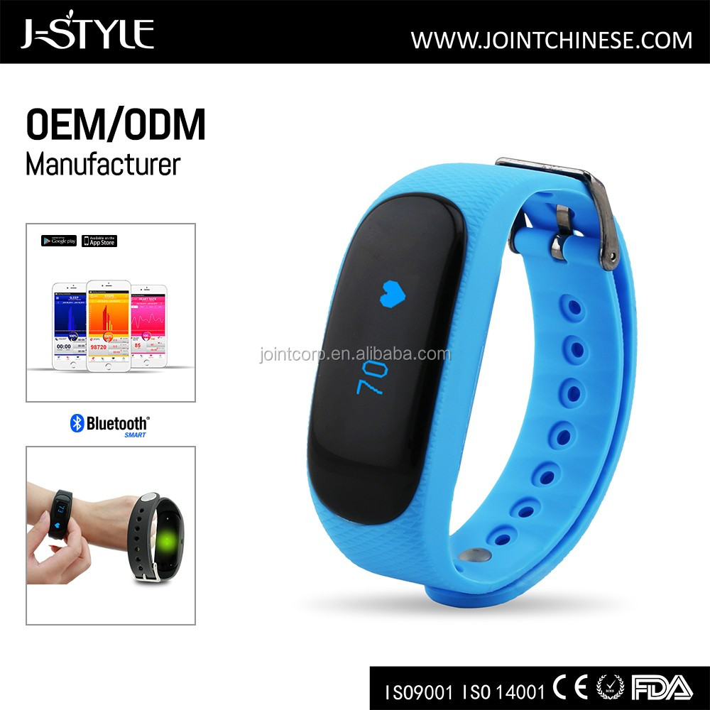 J-style Firmware Updated Wireless Fitness Tracker Heart Rate Monitor pedometer with fm scan radio