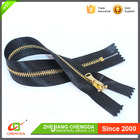 CHENGDA Best Web To Buy China 10# Or Custom Ribbon Tape Gold Teeth Giant Zipper