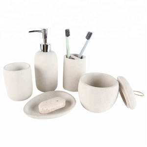 2019 New Bathroom Products 5 pcs Natural Stone Bathroom Set
