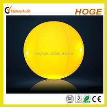 Yellow transparent Promotional Led Beach Ball