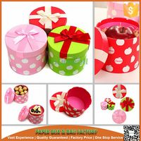Candy round packing carton box, Pink bowknot gift box,Christmas Eve apple box