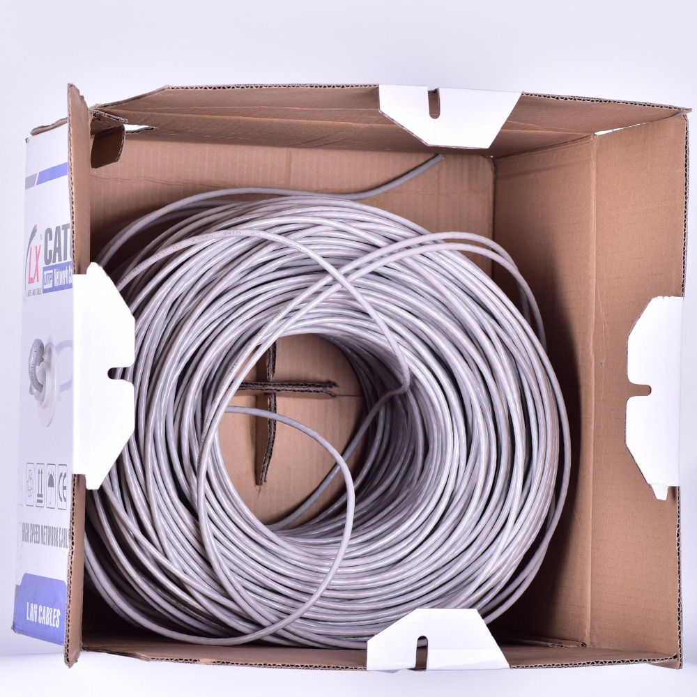 pass test CAT5E lan cable 24AWG UTP FTP copper network cable