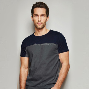 Wholesale Custom T shirt Design Block Cut & Sew Men T shirt