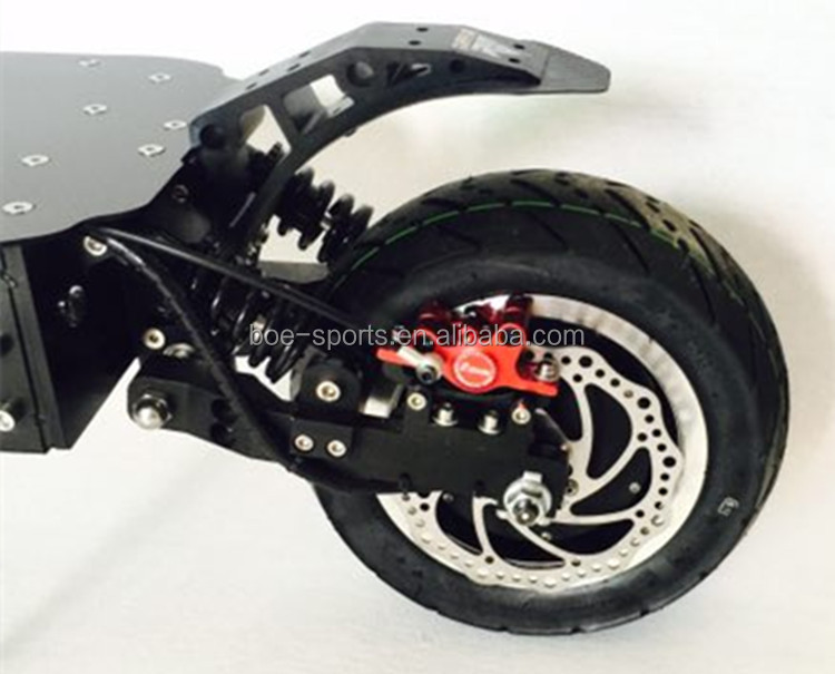11 inch two motor  C shape air suspension front rear hydraulic shock absorber mad eagle electric scooter 200kg load