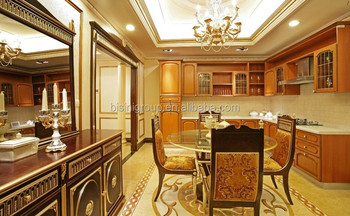 Luxury Design Italian Solid Wood Kitchen Cabinet, Customized Antique Wooden Kitchen  Cabinet BF11 02253d