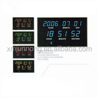 Electric Led Digital Wall Calendar Clock With Time And Date Display