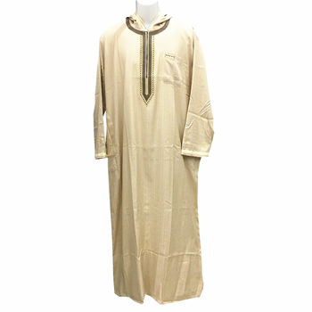 2017 new style hooded men thobe moroccan baju abaya kaftans for sale