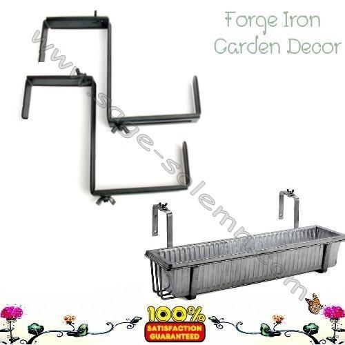 Flower Box Holder For Wrought Iron Railing - Flowers Ideas