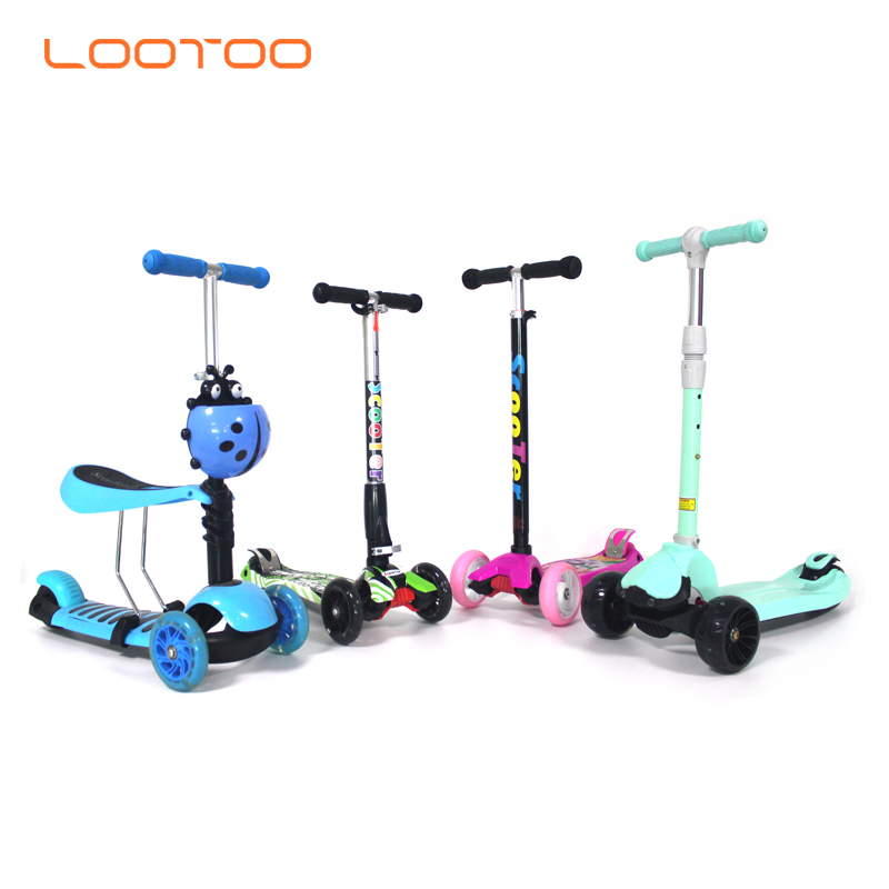 China manufacturers hot sale cheap price 3 wheel kids toy foot pedal kick scooter