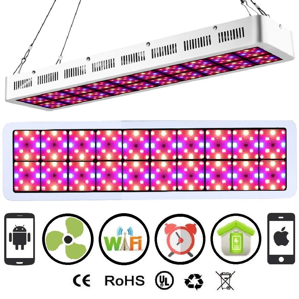 Farmedicine WiFi 2000W LED Smart 120° 20-Panel Rectangle Shaped Grow Light for Indoor Hydroponic Cultivation