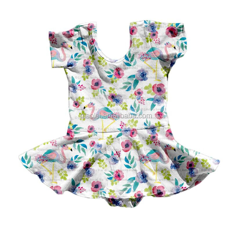 Dropship baby girls clothes create your own print Leotards Floral Balloon design Onesie romper toddler flutter skirted leotard