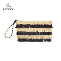 Style Straw Imitation Pouch Lady Clutch Bag with Accessories purse handbags manufacturer