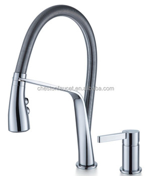 Hot Cold Water Gooseneck Kitchen Sink Faucet Sink Mixer Kitchenmixer