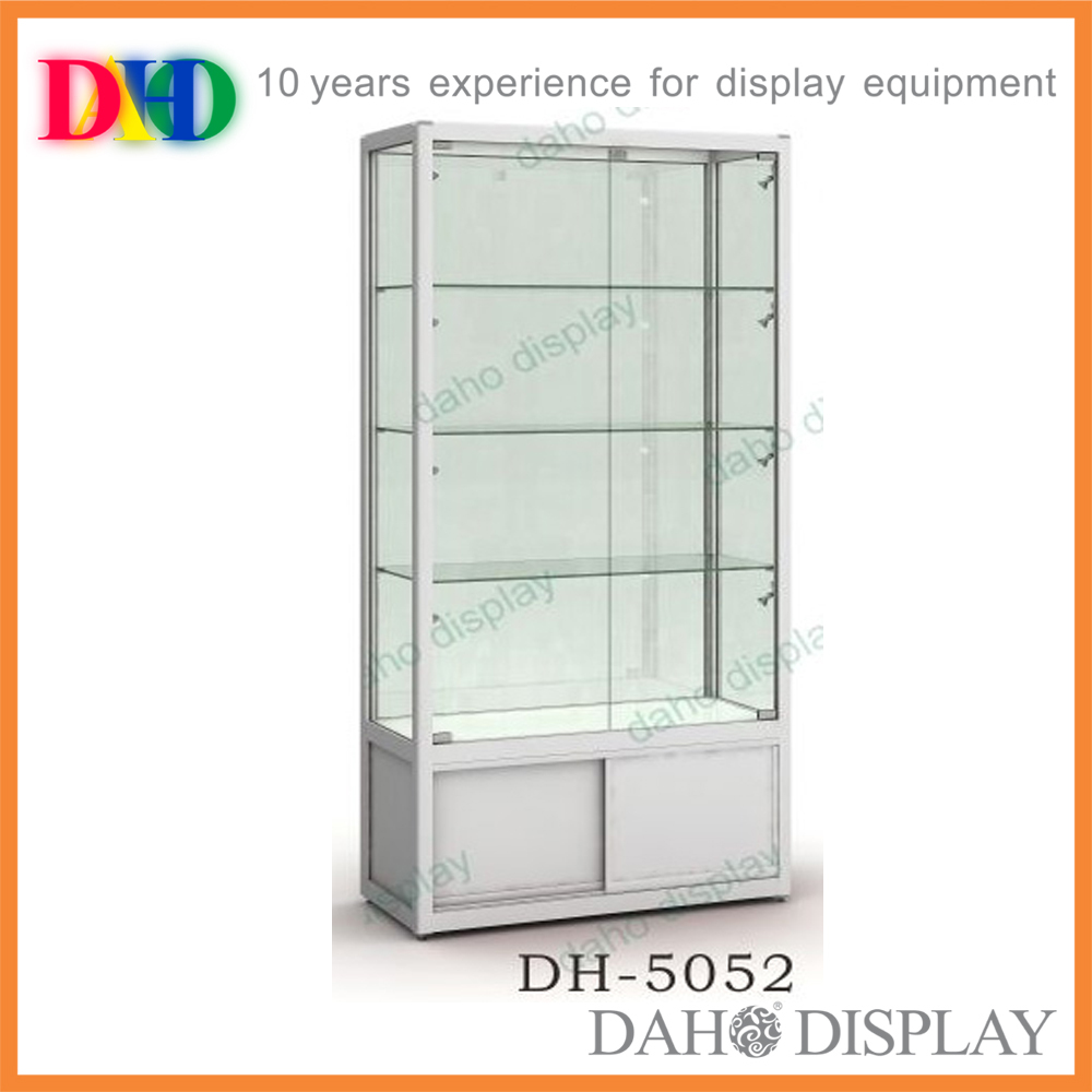 Free-standing Aluminium Glass Display Cabinet With Lights