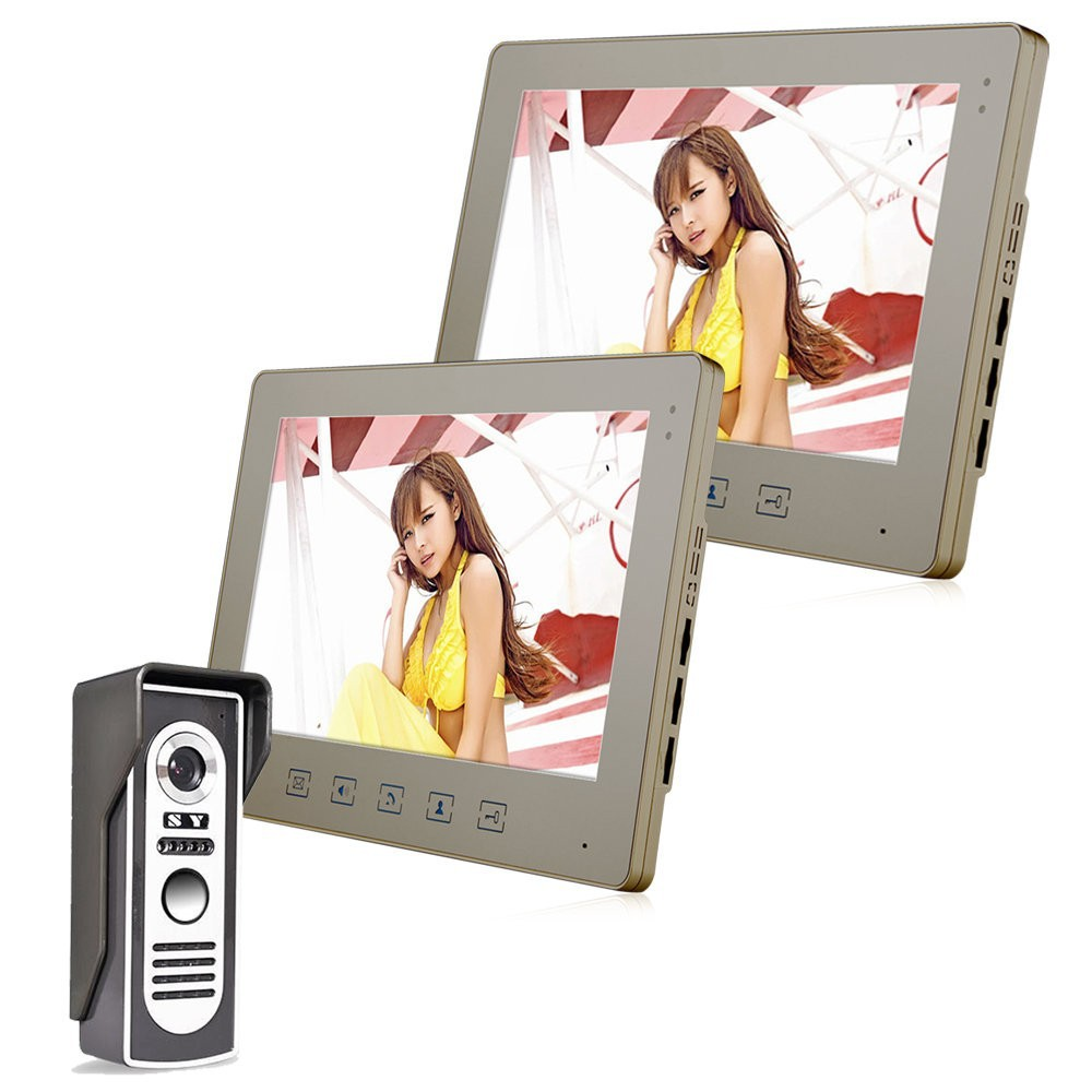 Home 10 Inch Color TFT Video Door phone DoorBell Intercom System Kit Waterproof IR Camera Wired Video Door Phone