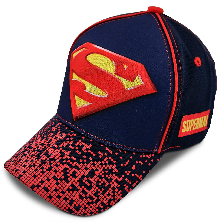 low priced 651fd 37e40 Get Quotations · DC Comics Little Boys Assorted Superhero Designs 3D Pop  Cotton Baseball Cap, Age 2-