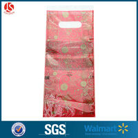 LDPE/HDPE Material and Varnishing Surface Handling soft loop handle bag