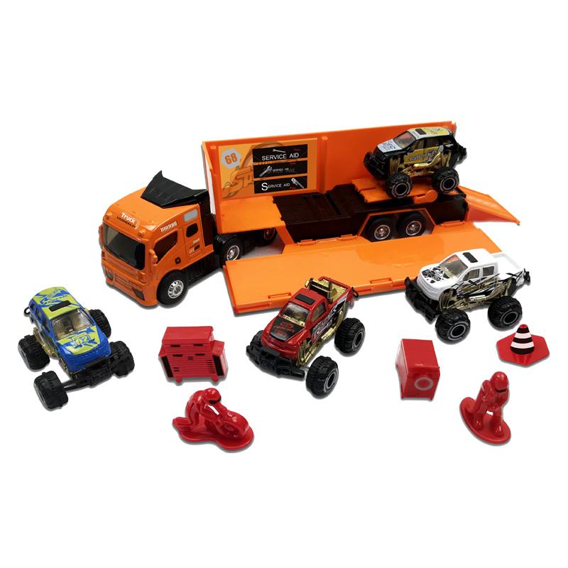 Con Sonido 143 Coche Contenedor Juguetes Y Diecast Juguete Metal Luz Camión De Modelos c5jqR4A3L